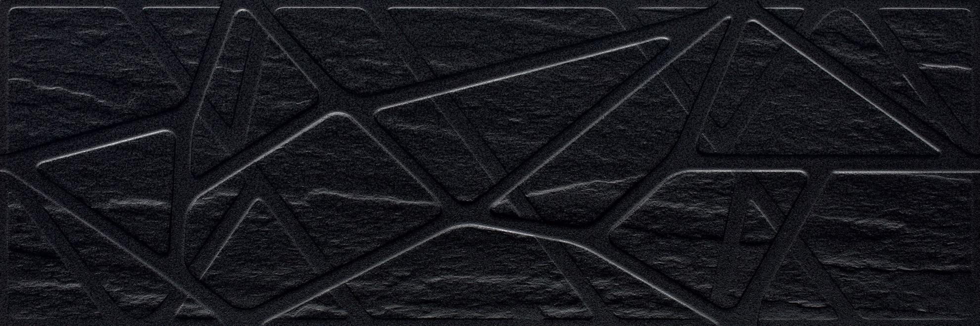 Imagine Titanium Nero Struktura Kratka 25x75