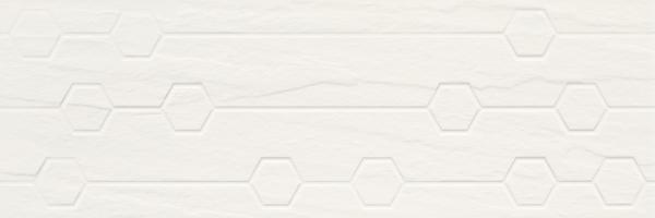 Imagine Titanium Bianco Struktura Heksagon 25x75