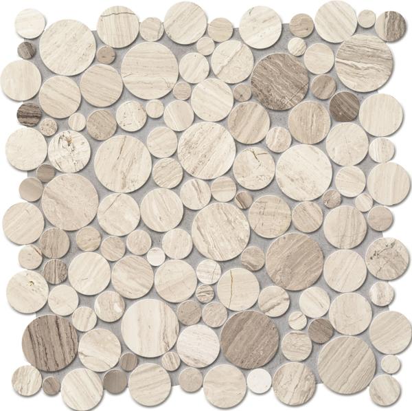 Imagine Mozaic Drops Stone Grey Circle