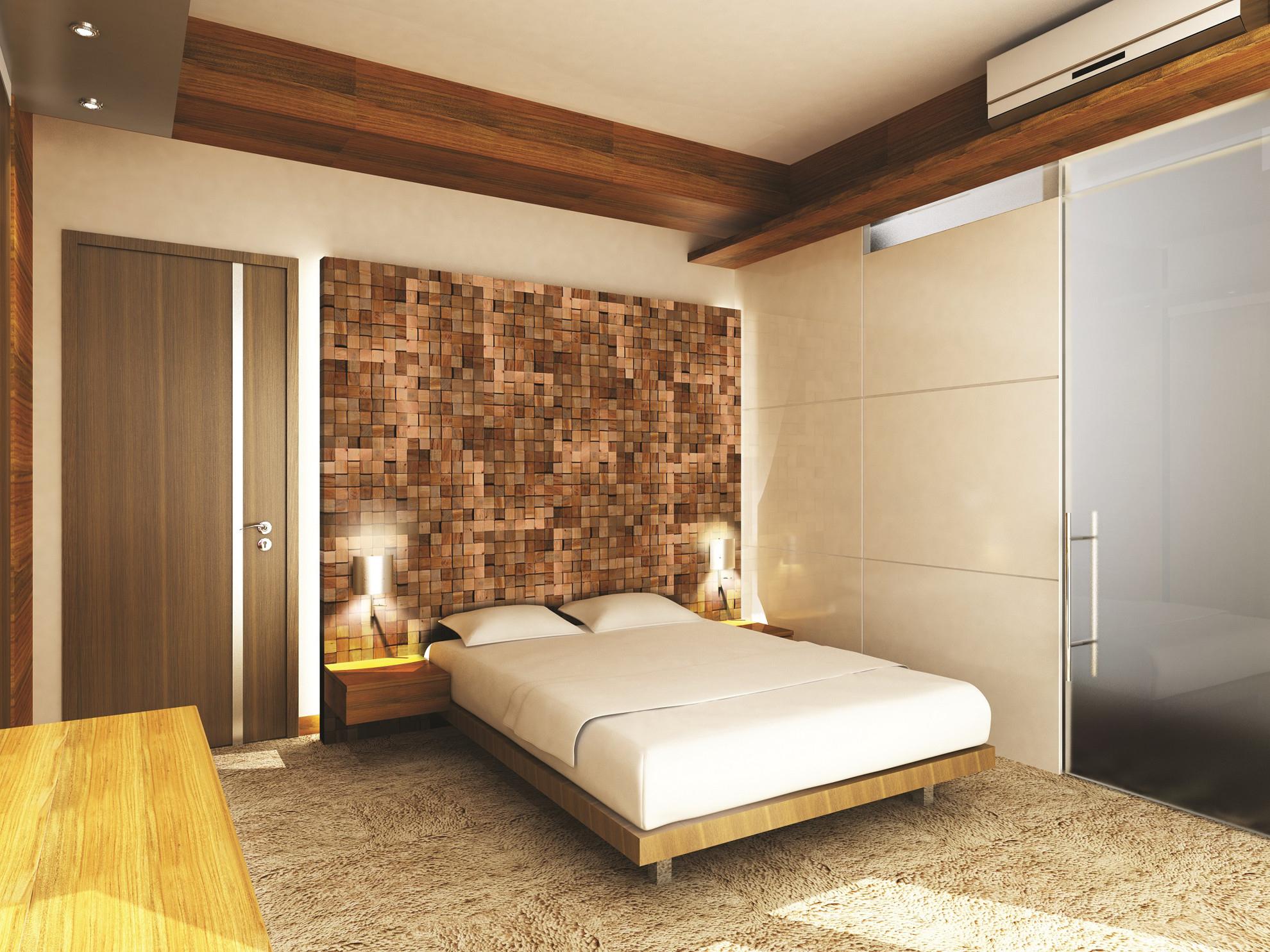 Imagine Placa Decorativa CUBE din lemn natural - vanzare la bucata