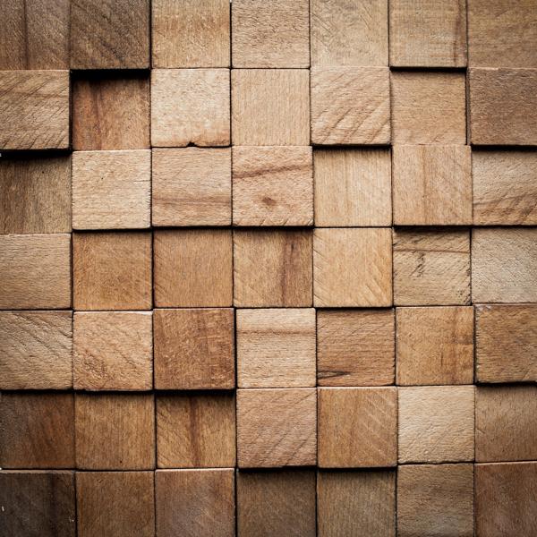 Placa Decorativa CUBE din lemn natural - vanzare la bucata