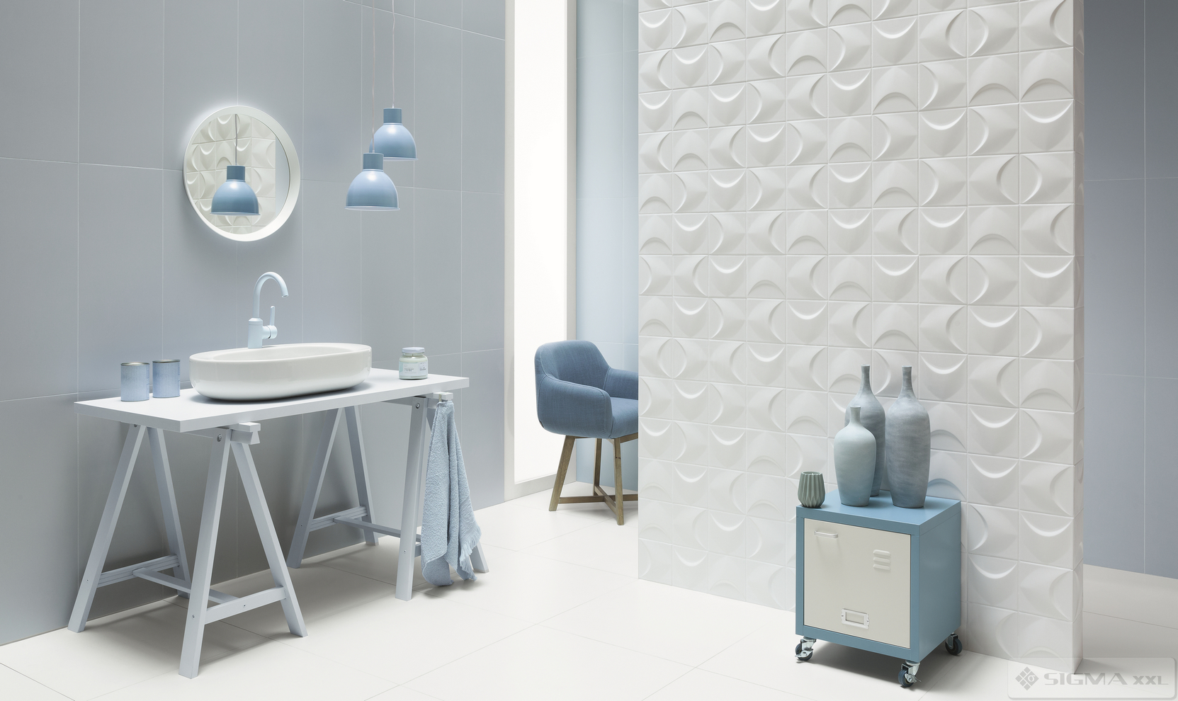 Imagine Gresie House of Tones Blue STR 59,8x59,8