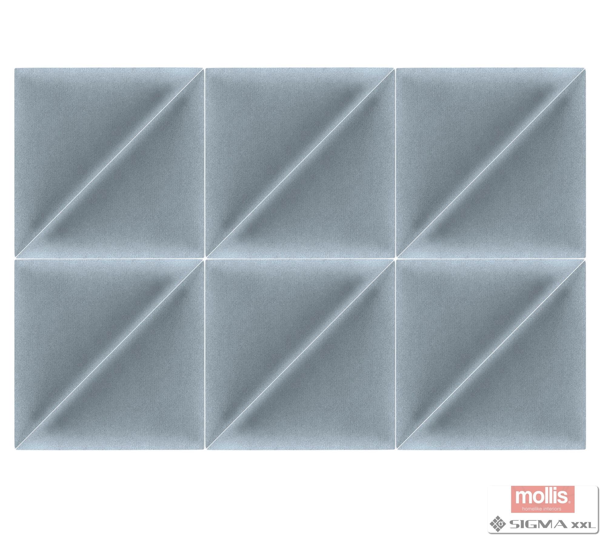 Imagine Mollis Basic 02 Light Blue (Triunghi - Set 2 buc = 30x30 cm)