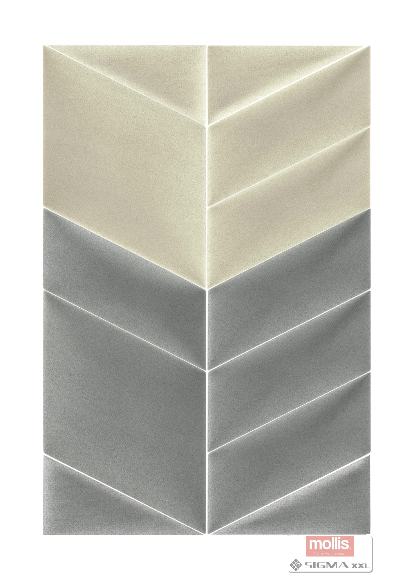 Imagine Mollis Abies 02 Grey Dust (Paralelogram A - 30x15 cm)