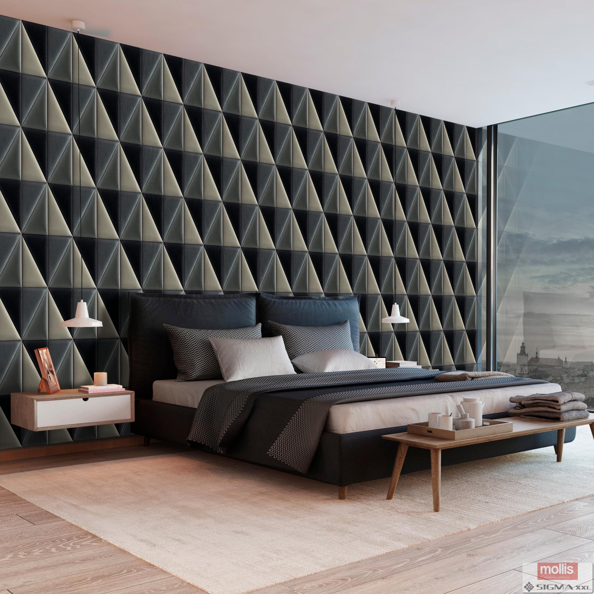 Imagine Mollis Abies 03 Black (Triunghi A - 30x15 cm)